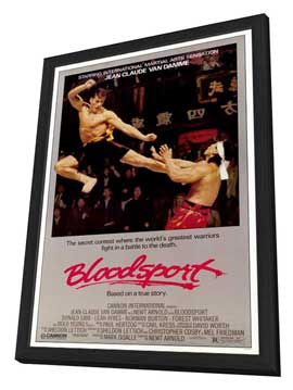 Bloodsport - 11 x 17 Movie Poster - Style A - in Deluxe Wood Frame