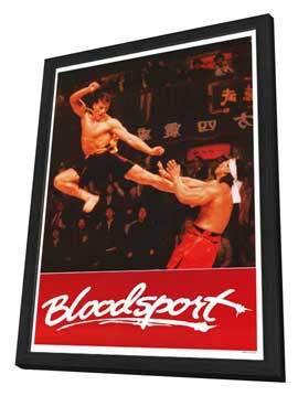 Bloodsport - 27 x 40 Movie Poster - Style B - in Deluxe Wood Frame