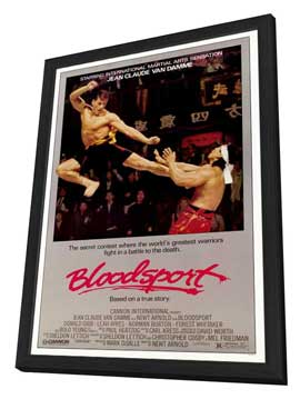 Bloodsport - 27 x 40 Movie Poster - Style A - in Deluxe Wood Frame