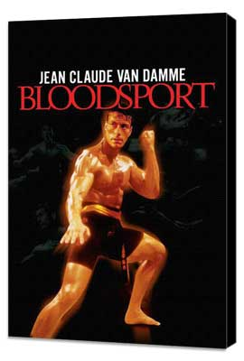 Bloodsport - 11 x 17 Movie Poster - Style B - Museum Wrapped Canvas