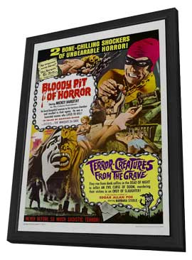 Bloody Pit of Horror - 11 x 17 Movie Poster - Style A - in Deluxe Wood Frame