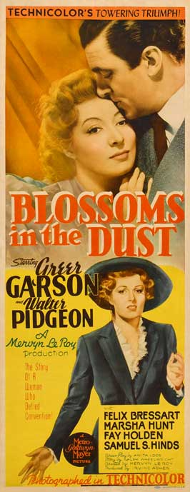 Blossoms in the Dust - 14 x 36 Movie Poster - Insert Style A