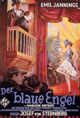 The Blue Angel - 27 x 40 Movie Poster - German Style D