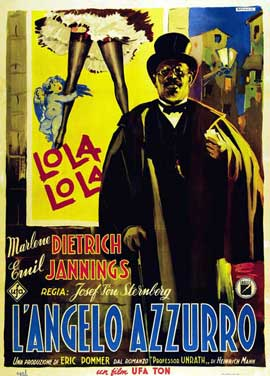 The Blue Angel - 27 x 40 Movie Poster - Italian Style E