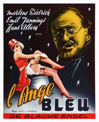 The Blue Angel - 27 x 40 Movie Poster - Belgian Style A