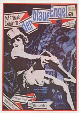 The Blue Angel - 11 x 17 Movie Poster - German Style N