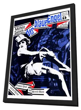 The Blue Angel - 27 x 40 Movie Poster - German Style A - in Deluxe Wood Frame