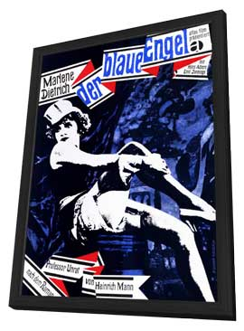 The Blue Angel - 11 x 17 Movie Poster - German Style A - in Deluxe Wood Frame