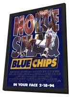 Blue Chips - 11 x 17 Movie Poster - Style A - in Deluxe Wood Frame