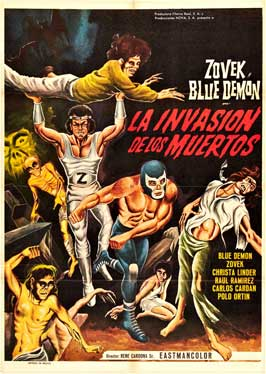 Blue Demon y Zovek en La invasion de los muertos - 27 x 40 Movie Poster - Japanese Style A