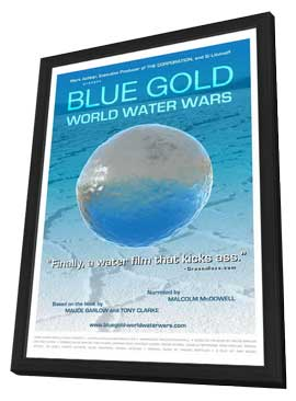Blue Gold: Life for Sale - 11 x 17 Movie Poster - Style C - in Deluxe Wood Frame