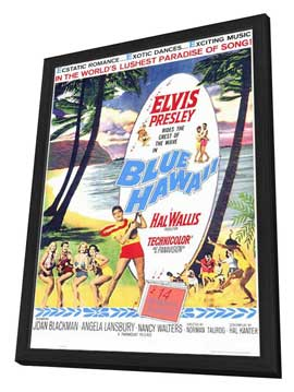 Blue Hawaii - 11 x 17 Movie Poster - Style A - in Deluxe Wood Frame