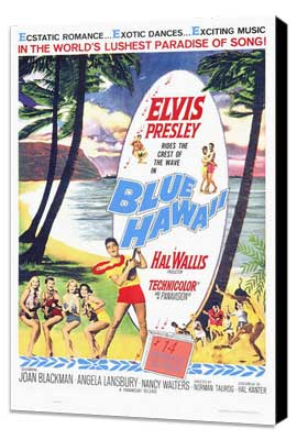 Blue Hawaii - 27 x 40 Movie Poster - Style A - Museum Wrapped Canvas
