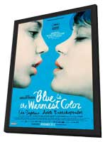 Blue is the Warmest Color - 11 x 17 Movie Poster - Canadian Style A - in Deluxe Wood Frame