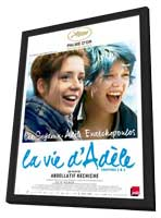 Blue is the Warmest Color - 11 x 17 Movie Poster - French Style A - in Deluxe Wood Frame
