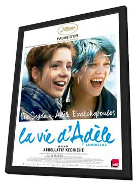 Blue is the Warmest Color - 27 x 40 Movie Poster - French Style A - in Deluxe Wood Frame