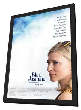 Blue Jasmine - 27 x 40 Movie Poster - Style A - in Deluxe Wood Frame