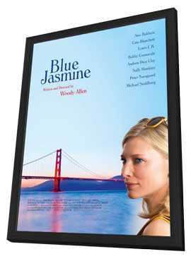 Blue Jasmine - 27 x 40 Movie Poster - Style B - in Deluxe Wood Frame