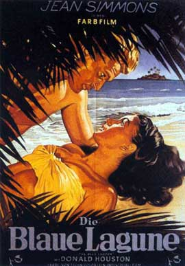 Blue Lagoon - 11 x 17 Movie Poster - German Style A