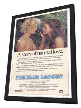 The Blue Lagoon - 27 x 40 Movie Poster - Style A - in Deluxe Wood Frame