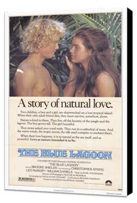 The Blue Lagoon - 27 x 40 Movie Poster - Style A - Museum Wrapped Canvas
