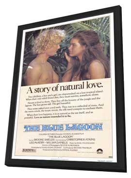 The Blue Lagoon - 11 x 17 Movie Poster - Style A - in Deluxe Wood Frame