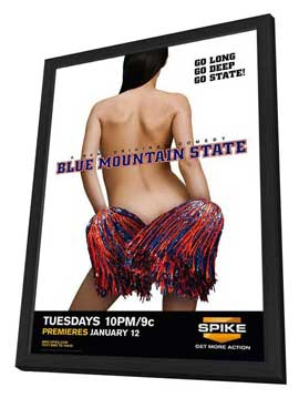 Blue Mountain State (TV) - 11 x 17 TV Poster - Style B - in Deluxe Wood Frame