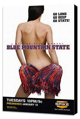 Blue Mountain State (TV) - 11 x 17 TV Poster - Style B - Museum Wrapped Canvas