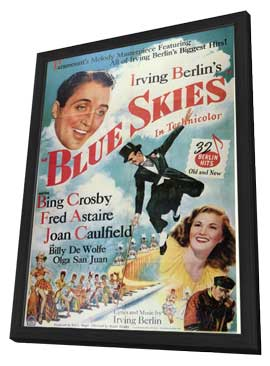 Blue Skies - 11 x 17 Movie Poster - Style A - in Deluxe Wood Frame