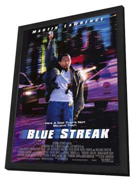 Blue Streak - 27 x 40 Movie Poster - Style A - in Deluxe Wood Frame