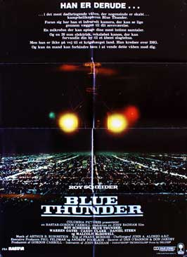 Blue Thunder - 11 x 17 Movie Poster - Danish Style A