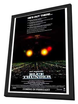 Blue Thunder - 27 x 40 Movie Poster - Style A - in Deluxe Wood Frame