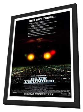 Blue Thunder - 11 x 17 Movie Poster - Style A - in Deluxe Wood Frame