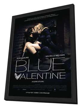 Blue Valentine - 27 x 40 Movie Poster - Style A - in Deluxe Wood Frame