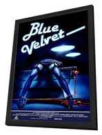 Blue Velvet - 11 x 17 Movie Poster - Style F - in Deluxe Wood Frame