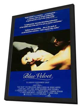 Blue Velvet - 27 x 40 Movie Poster - Style E - in Deluxe Wood Frame