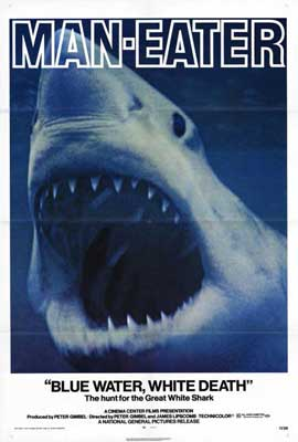 Blue Water White Death - 27 x 40 Movie Poster - Style B
