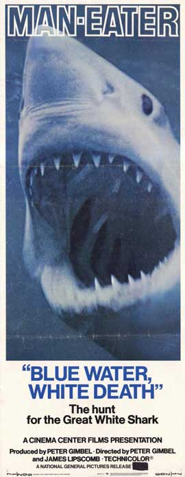 Blue Water White Death - 14 x 36 Movie Poster - Insert Style A