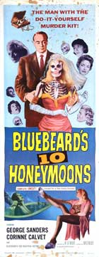 Bluebeards Ten Honeymoons - 14 x 36 Movie Poster - Insert Style A