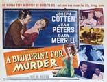 Blueprint for Murder - 11 x 14 Poster UK Style A
