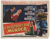 Blueprint for Murder - 22 x 28 Movie Poster - Half Sheet Style A
