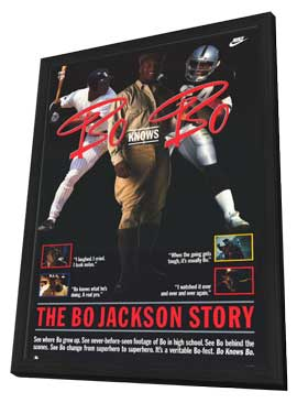 Bo Knows Bo - 27 x 40 Movie Poster - Style A - in Deluxe Wood Frame