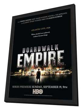 Boardwalk Empire (TV) - 27 x 40 TV Poster - Style A - in Deluxe Wood Frame
