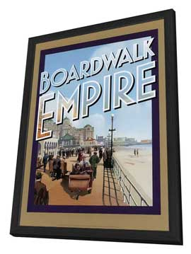 Boardwalk Empire (TV) - 27 x 40 TV Poster - Style B - in Deluxe Wood Frame