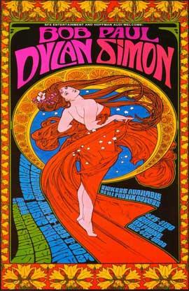 Bob Dylan/Paul Simon - 11 x 17 Music Poster - Style A
