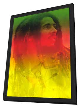 Bob Marley - 11 x 17 Music Poster - Style B - in Deluxe Wood Frame