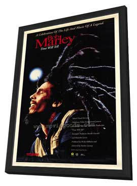 Bob Marley: Time Will Tell - 27 x 40 Movie Poster - Style A - in Deluxe Wood Frame