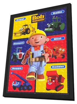 Bob the Builder - 11 x 17 Movie Poster - German Style A - in Deluxe Wood Frame