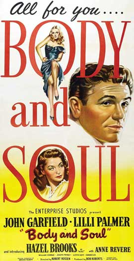 Body and Soul - 11 x 17 Movie Poster - Style A
