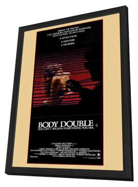 Body Double - 11 x 17 Movie Poster - Style A - in Deluxe Wood Frame
